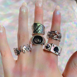 🕷 Grunge Ring Set 🕷